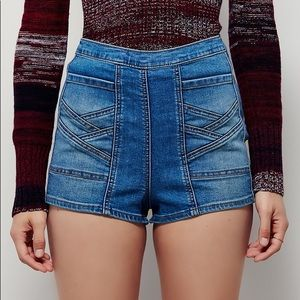 "GRAY Free People ""Radar Love"" Shorts"
